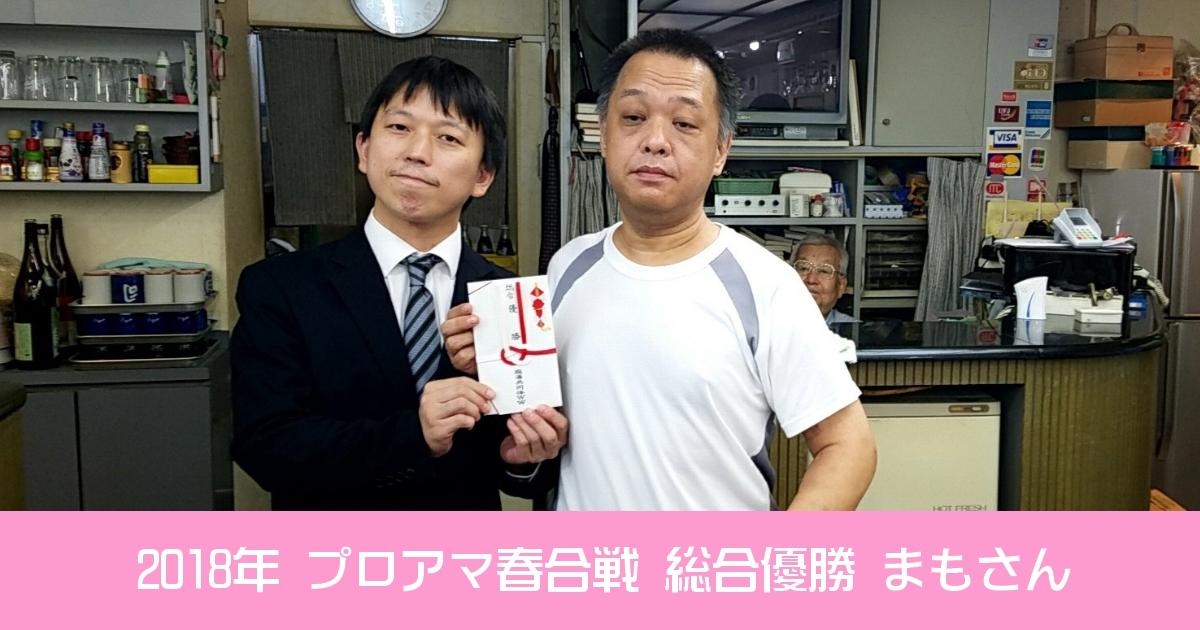 【2018年度】プロアマ春合戦